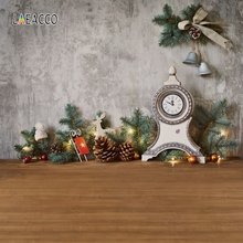 цены Laeacco Clock Christmas Portrait Photography Backgrounds Customized Baby Photocall Vinyl Photo Backdrops For Home Studio Decor