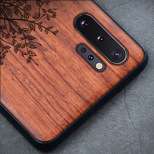 Image 2 - Custom Carved Wood Case For Samsung note 10 plus Note 8 Note 9 Case funda For Samsung s10 s9 plus Wooden TPU Protective Case