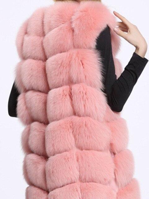 Natural Real Fox Fur Vest Jacket Waistcoat Short sleeveless  winter warm Natural Fur Vest Real Fur Jacket Fox Fur Coats