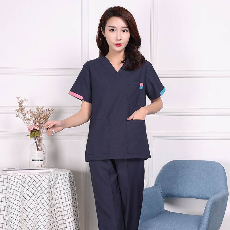 Operating Clothes Short-sleeved Hand Washing Clothes For Men And Women Brush Hand Clothes Dental Beauty Pet Hospital Anti-static