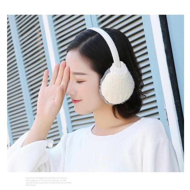 Unisex Winter Warm Knitted Earmuffs Ear Warmers Muffs Women Men Earlap Cover