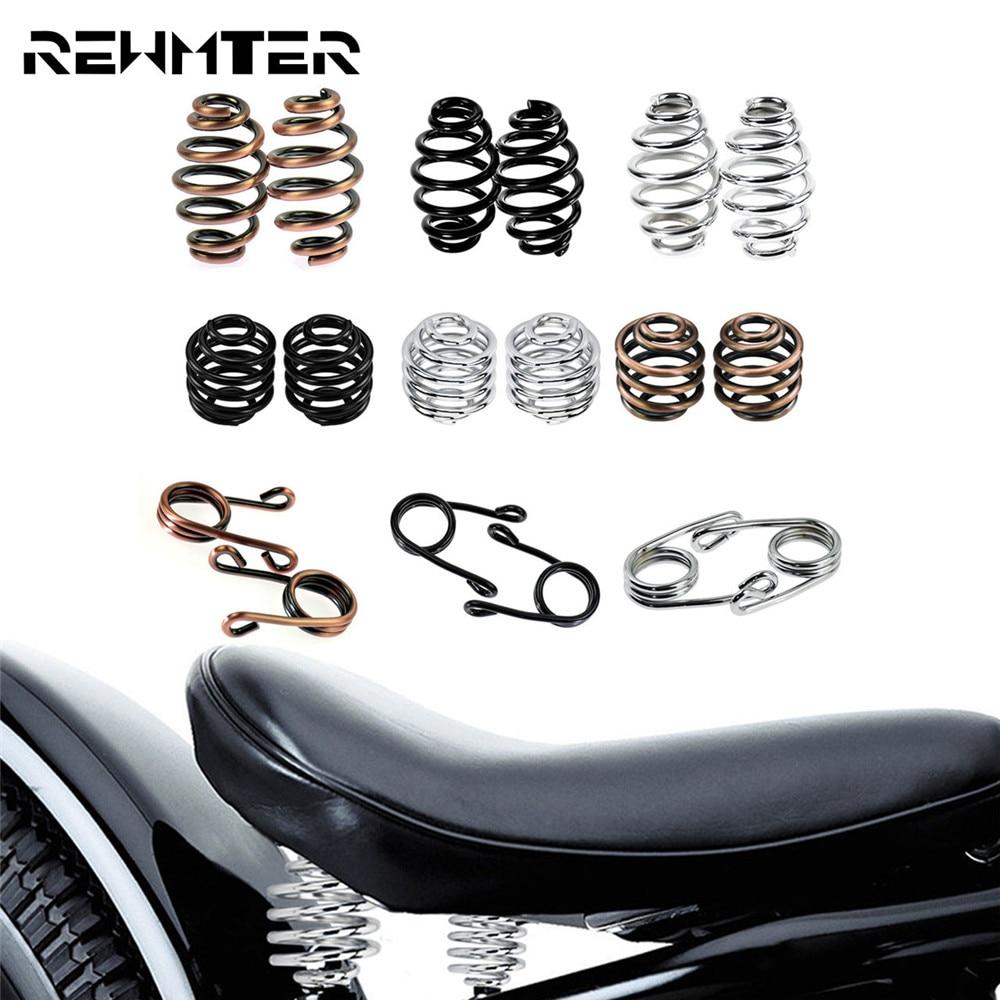Motorcycle Solo Seat Mount Kit Driver Seat Springs Bronze /Black/Chrome For Harley Bobber Chopper Custom Sportster For Honda