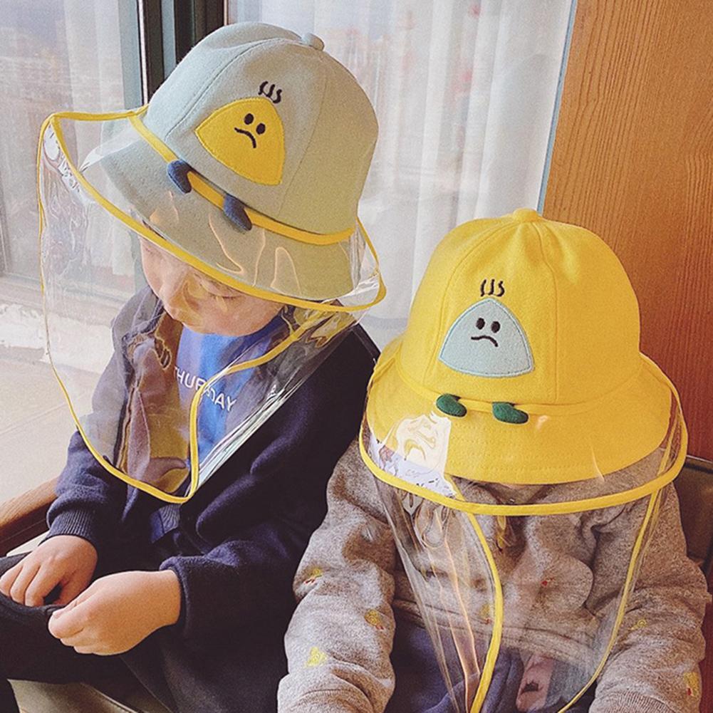 Cute Fashion Kids Dustproof Anti Spitting Protective Mask Visor Hat Face Shield Fisherman Cap
