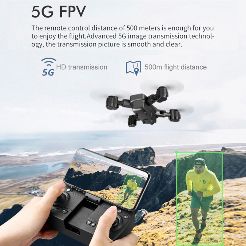 2020 NEW Dron GPS RC Drone 1080p/4K HD Camera Quadcopter WIFI FPV With 50 Times Zoom Foldable Helicopter Professional Drone TOYS 2