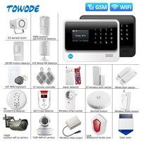 Towode G90B Plus SIM GSM Home Burglar Security APP Remote Control WIFI Wireless GSM Alarm System Alarm System Kits    -