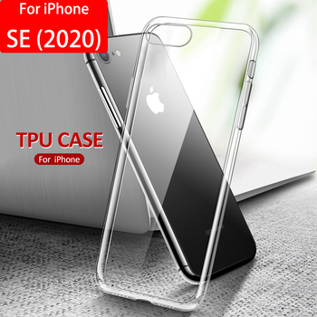 Luxury Shockproof Transparent Silicone Case For iPhone SE 2020 7 8 Plus Soft Phone Shell For iPhone 11Pro XS X XR Max Back Cover image