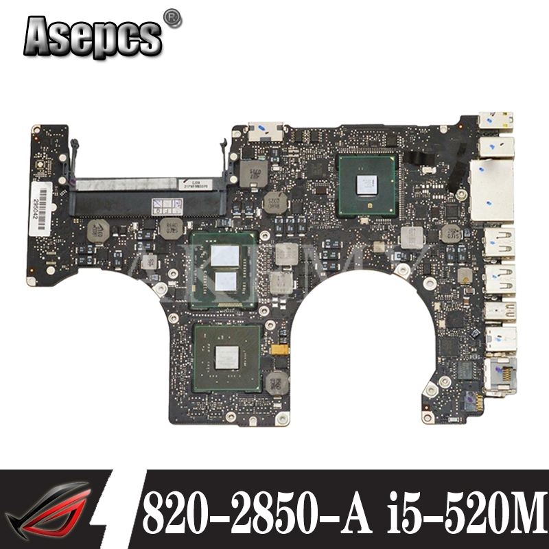 820 2850 A Laptop motherboard for Apple Macbook A1286 2010 original mainboard I5 520M 2.4GHZ|Motherboards| |  - title=