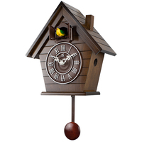 Wood Cuckoo Clock Mechanism Bird Pendulum Clock Wall Bell Garden Modern Bedroom Decor Gift Bathroom Clock Scenic Living Room JJ