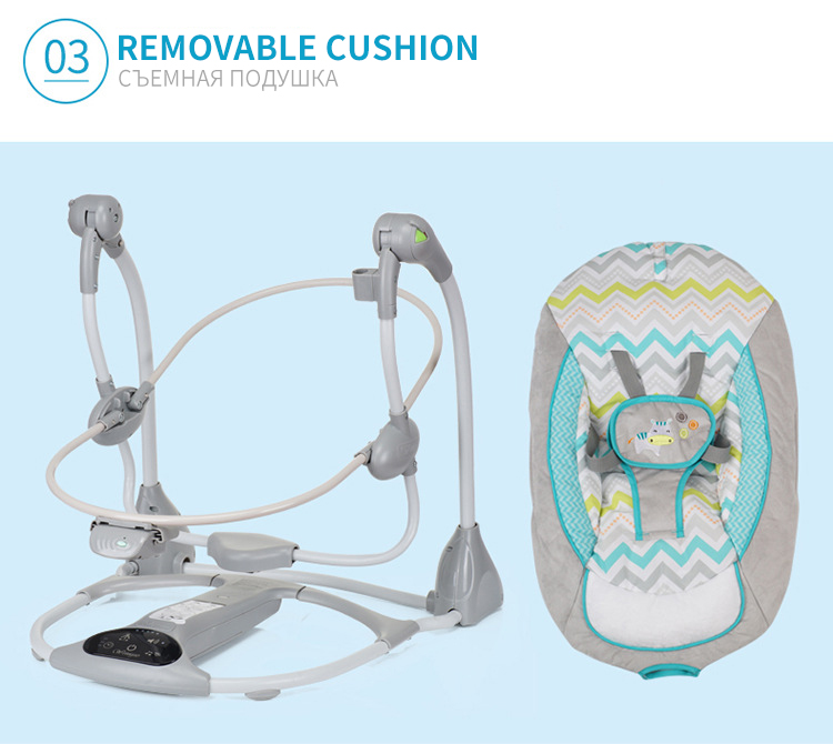 H9c0d1917c1654a65bf827cd97b7f9a26C Multi-function Baby Electric Swing USB Interface Baby Comfort Rocking Chair Cradle Baby Bouncer