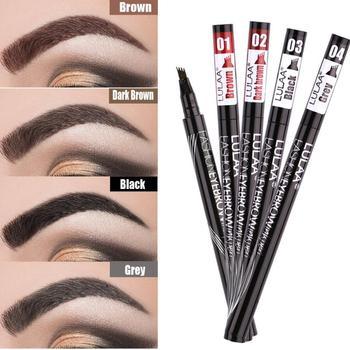 4 Colors Natural Lasting Eyebrow Pen Four-claw Eye Brow Tint Makeup Eyebrow Pencil Brown Black Waterproof Cosmetics TSLM1 1
