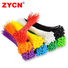 Cable Tie 100pcs/pack Self-locking Nylon wire binding wrap straps 8 color 3*200mm width 2.5mm  SGS Certified