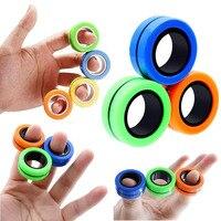 Spinner divertido Spinner anillo magnético descomprimir el estrés Fidget juguetes Hotwhells Stress Reliever juguetes anillo mágico juguetes de la descompresión