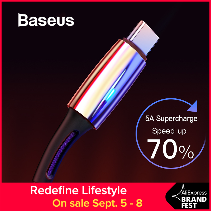 Baseus C-Cable USB Huawei P20 C-Type Quick-Charge 5A Lite-Pro