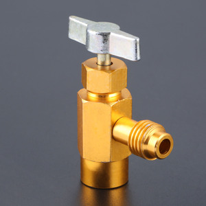Image 1 - R 134A AC Refrigerant Can Opener Tap Dispensing Valve 1/2 ACME Thread Brass