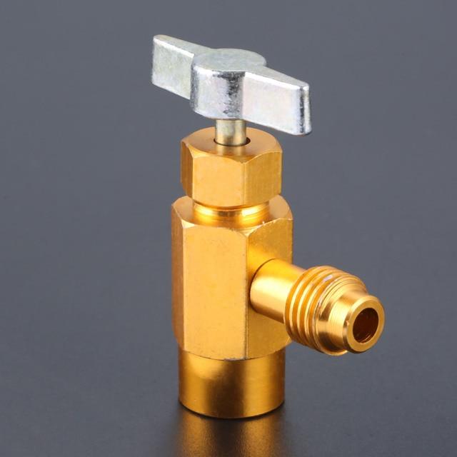R 134A AC Refrigerant Can Opener Tap Dispensing Valve 1/2 ACME Thread Brass