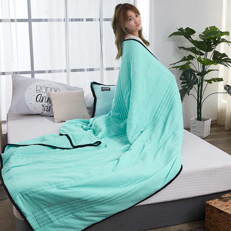 Мытый хлопок кондиционер летнее одеяло дышащие постельные принадлежности Одеяла для взрослых детские постельные покрывала