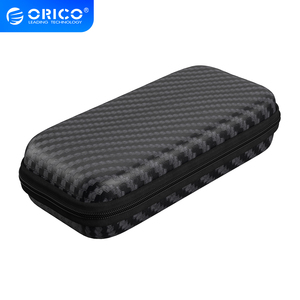 ORICO M.2 Hard Drive Storage Bag EVA Portable HDD Case Hard Disk Drive Box Shockproof External Hard Drive Case Black
