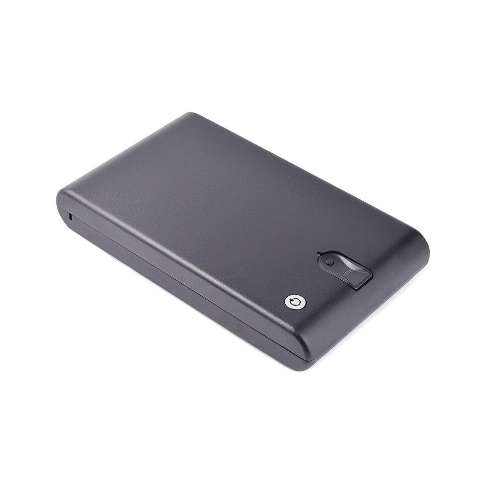 Slice Fingerprint Sensor Pistol Safe Box For GLOCK-19 Accommodate Two Guns OS120B