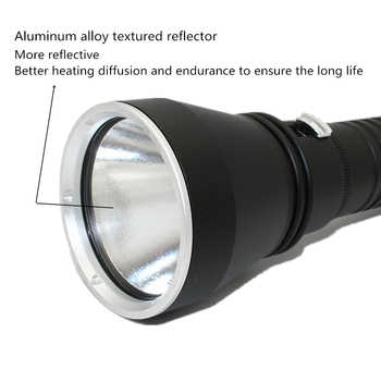 Dive Flashlight XHP70.2 LED Flashlight Yellow Light Diving Torch Waterproof Spearfishing Lamp Underwater Hunting Lanterna