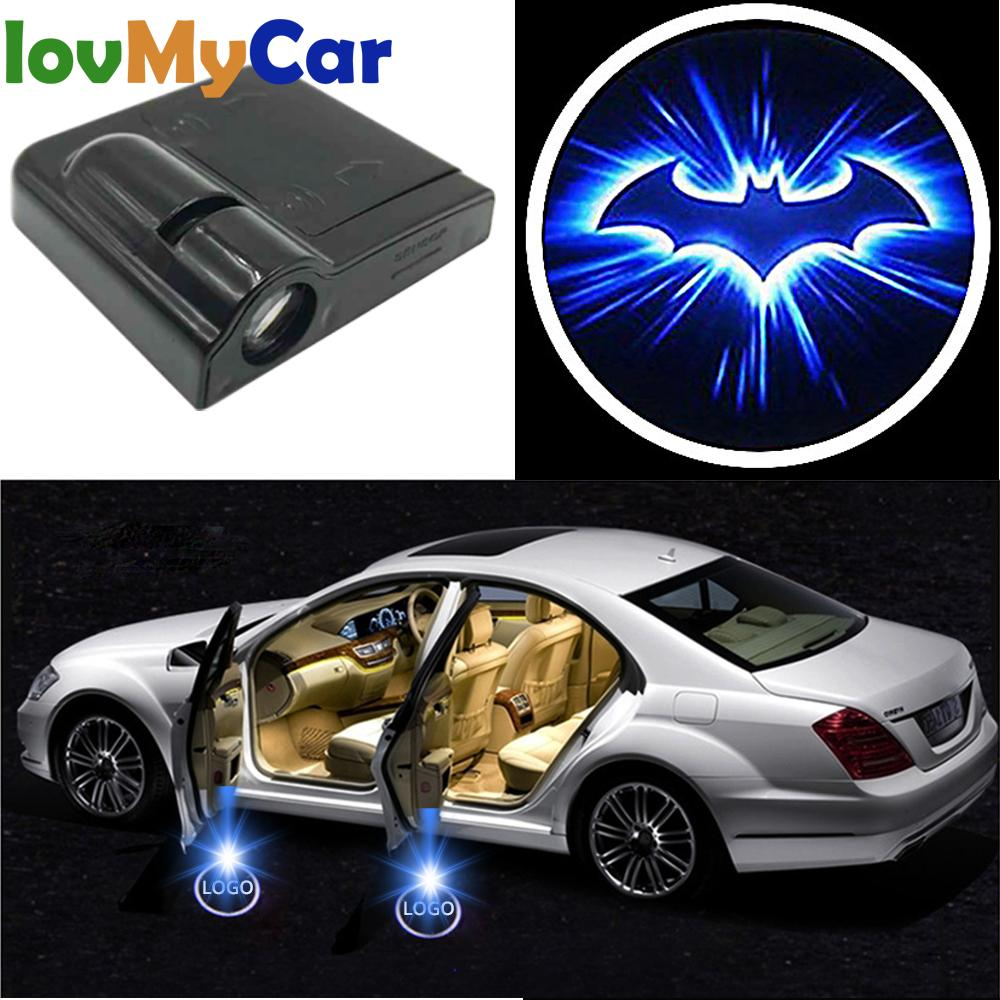 Auto Car Led Wireless Door Logo Light Welcome Decor Lamp Laser Shadow Lamp Projector Light Atmosphere Car Light Car Accessories