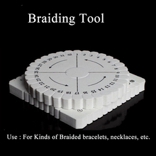 2Pcs Round Square Kumihimo knitting Cord Disc Disk Braiding Tool Beading Plate For DIY Jewelry Making Handicraft Auxiliary Tools