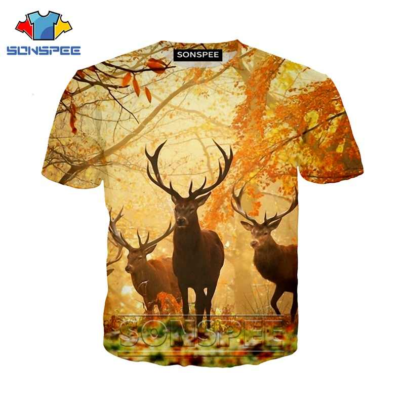 Anime 3d print game t shirt animal deer streetwear elk hunter men Women fashion t-shirt Harajuku kids shirts homme tshirt A205
