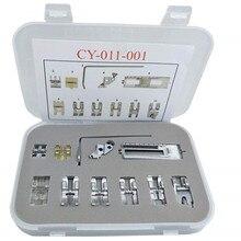 11PCS Set # CY 011 001 Snap Auf Presser Fuß fuß/Füße Fit für Pfaff 1000 7570 mit IDT walking Fuß Nähen zubehör