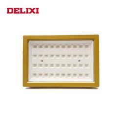 DELIXI светодиодный взрывозащищенный светильник высокого Мощность AC 220V 100W 120W 160W 200W lp66 WF1 завод светильник Потолочные Светильник Взрывозащищен...