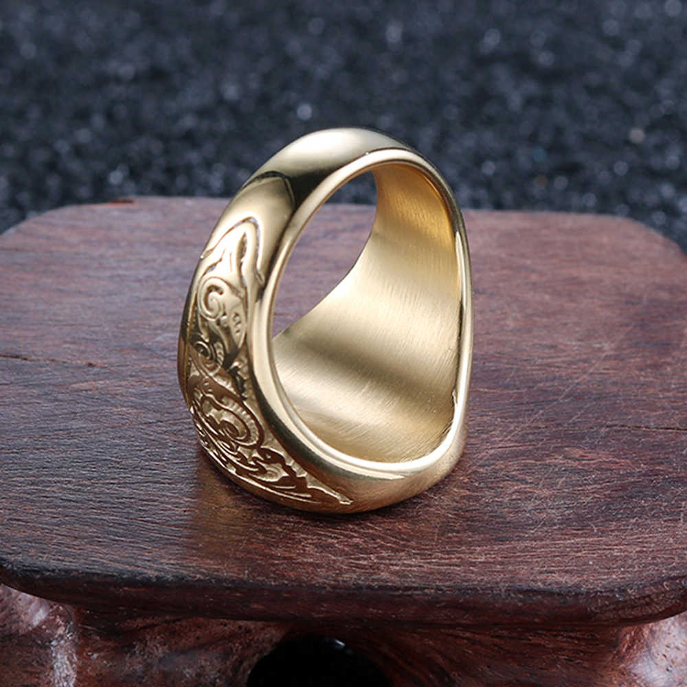 แฟชั่นพิเศษกลุ่มผู้ชาย Vintage สแตนเลสสตีลแหวน Mason Freemason Masonic แหวน Punk finger แหวนเครื่องประดับ