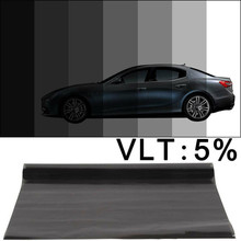 600x50cm Black Auto Car Home Window Glass Building Tinting Film Roll Side Window Solar UV Protection Sticker Curtain Scraper 20% vlt black pro car home glass window tint tinting film roll car window foils anti uv solar protection sticker films scraper