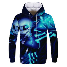 Harajuku Undertale Sans Skull Hoodie Unisex 3D Print Cosplay Costume Sweatshirt Men Women Hoodies Sweatshirts Tracksuits(China)
