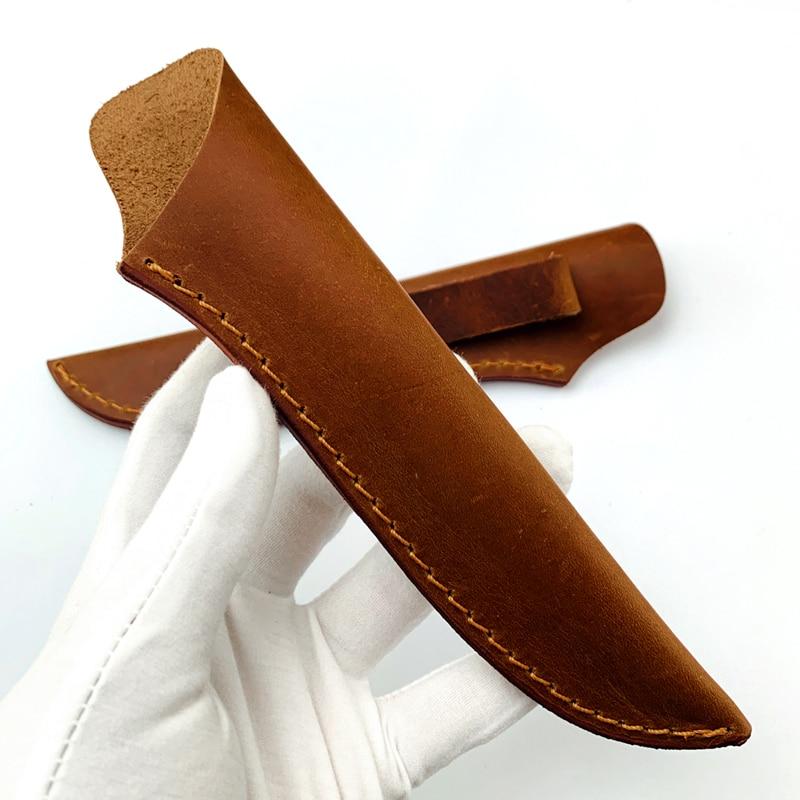 DIY Cowhide Leather Knife Cover Case Chef Knife, Fruit Knife, Multi-purpose Knife, Universal Length Sheath