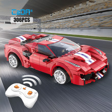 Cada-coche de carreras a Control remoto para niños, Compatible con bloques de construcción MOC de alta tecnología RC, supercoche deportivo, bloques, regalos