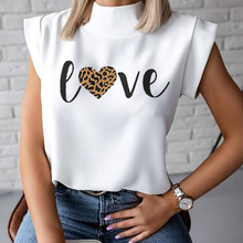 Lips Print Women Blouse Shirt 2020 Summer Casual Stand Neck Pullover Elegant Women Tops Ladies Fashion Blouse Short Sleeve Blusa