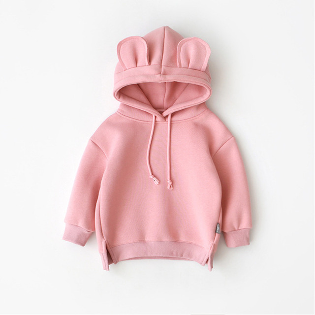New Spring Autumn Baby Boys Girls Clothes Cotton Hooded Sweatshirt 2