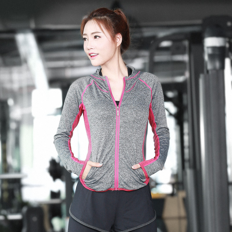 Hot Selling Women's Sports Hoodie Fitness Training Yoga Jacket Moisture Wicking Quick-Drying Sports Jackets