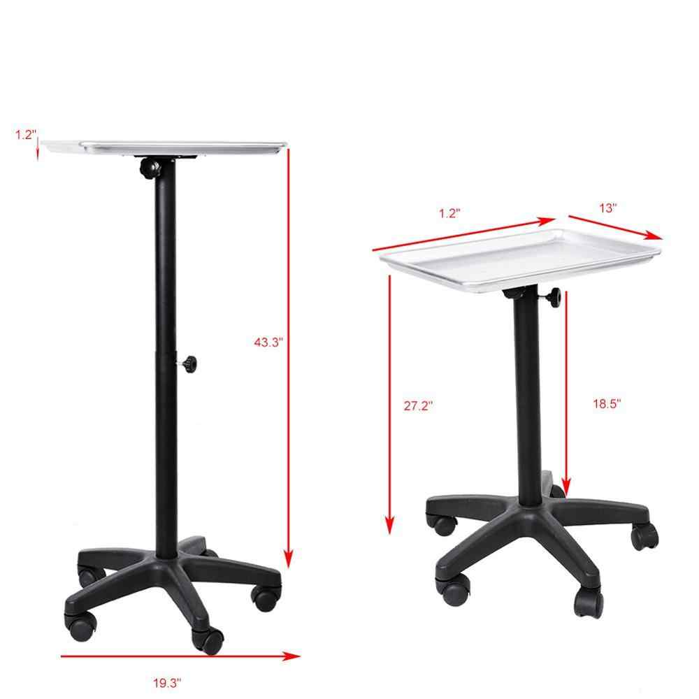 Aluminium Hair Salon Instrument Tray Adjustable Height Tray Trolley For Beauty Salon Tattoo Body Art Tools Five Foot Free Wheel Aliexpress