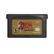 Tarjeta de cartucho para consola Nintendo GBA, The Legend of Zeld, enlace A las cuatro espadas del pasado, versión en inglés de EE. UU.