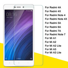 For xiaomi redmi 7a 6a 4a glass for mi a1 a2 a3 lite light screen protector redm 4x note 7 4x 5a protective termpered glass xiom(China)