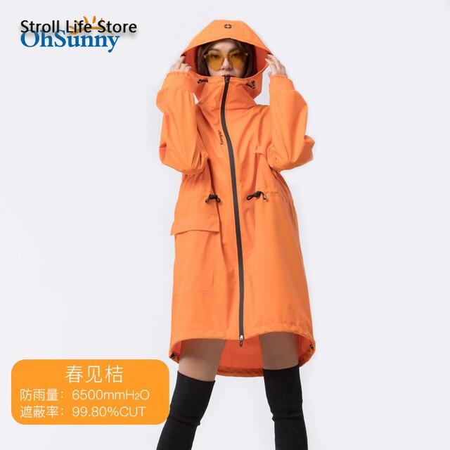 Adult Long Raincoat Rain Jacket Waterproof Outdoor Hiking Blue Rain Poncho Women Jacket Windbreaker Manteau Femme Gift Ideas 5