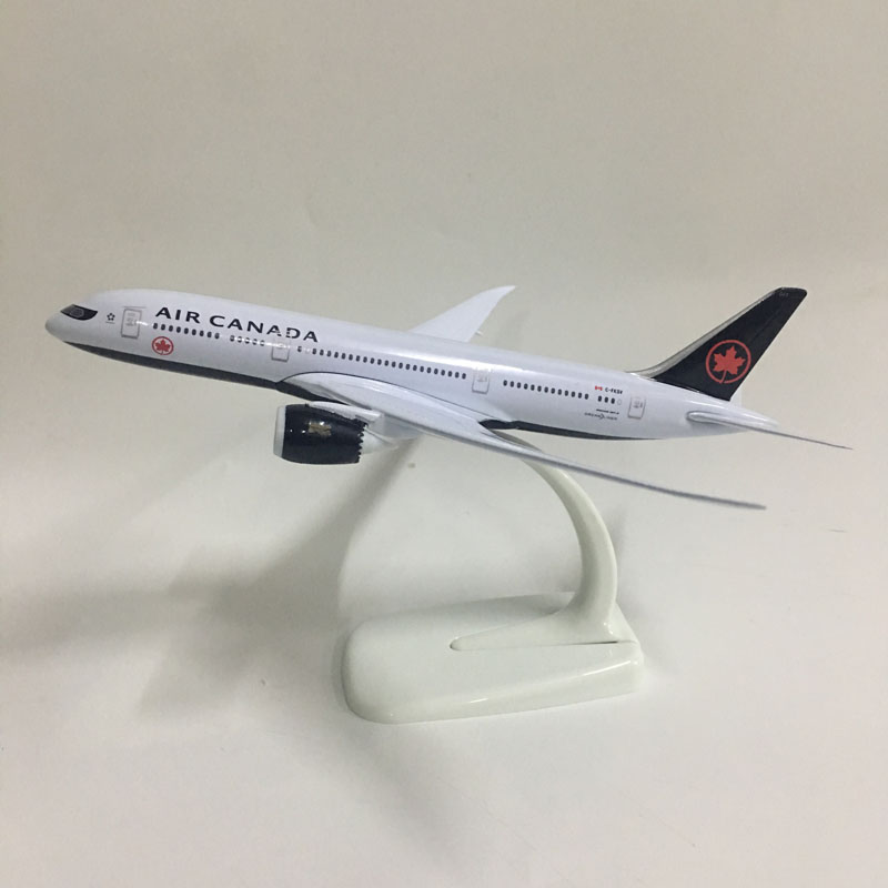 JASON TUTU 20cm Plane Model Airplane Model Air Canada Boeing 787 Aircraft Model 1:300 Diecast Metal Airplanes Planes Toys Aeropl
