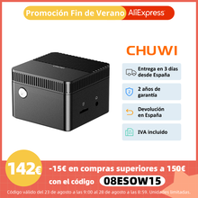 Mini PC CHUWI LarkBox, Intel Celeron J4115, 6GB RAM, 128GB eMMc, Intel UHD 600, Windows 10, USB-C, USB 3.0, HDMI, microSD