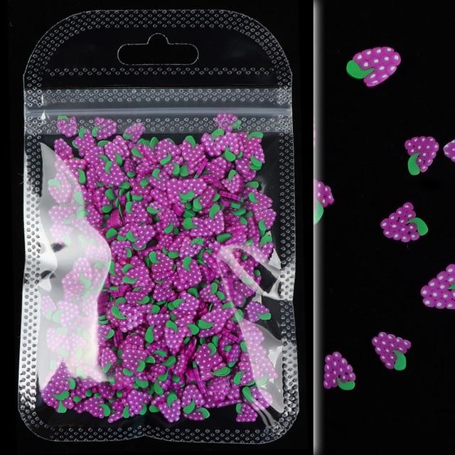 10G Nail Art plastry owoców dekoracji mieszane owoce kromka DIY projekt akrylowe piękno glina polimerowa paznokcie naklejki 15 akcesoria stylu