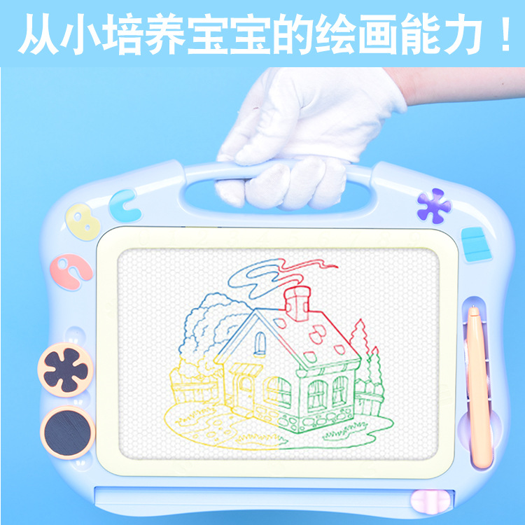 Medium Funny Sketchpad Children Colorful Painted Doodle Board Baby Magnetic Drawing Board Educational Early Childhood Toy