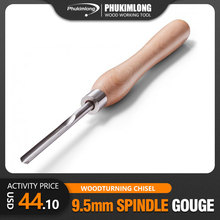M2 HSS 9.5mm Spindle Gouge Wood Working Tools Wood Turning Chisel