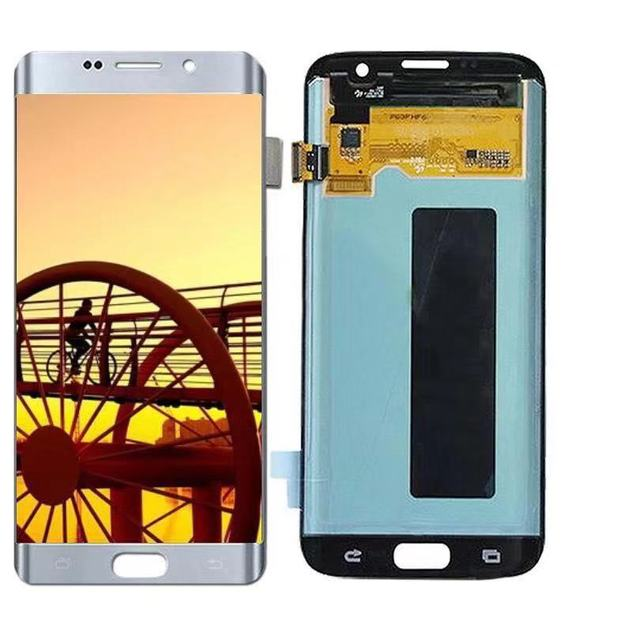 100% Super AMOLED Screen for SAMSUNG Galaxy S7 edge LCD Display G935 G935F G935A Touch Digitizer Assembly Replacement Parts