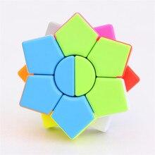 Zcube скоростной кубик волшебный кубик головоломка твист игрушка пятиконечная звезда без наклеек Мини Красочный