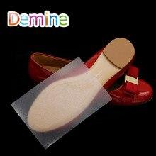 1 par sapato único adesivo anti deslizamento fita para sandálias sapatos de salto alto transparente auto adesivo apertos sola protetor almofada