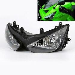 Motocykl przezroczysty reflektor montaż dla Kawasaki Ninja ZX6R ZX 6R ZX636 2005 2006 na