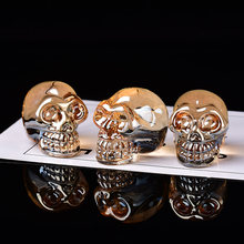 1Pc Crystal Quartz Mineral Jewelry Quartz Crystals Skull Crystal Carving Can Fo hrome Decoration Halloween DIY decoration Gift(China)